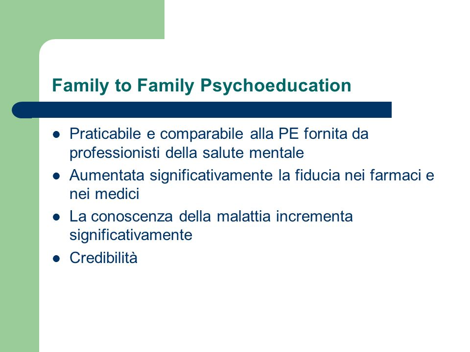 Family to Family Psychoeducation