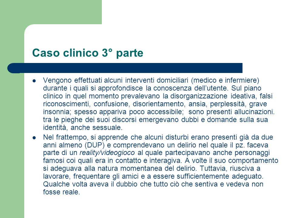 Caso clinico 3° parte
