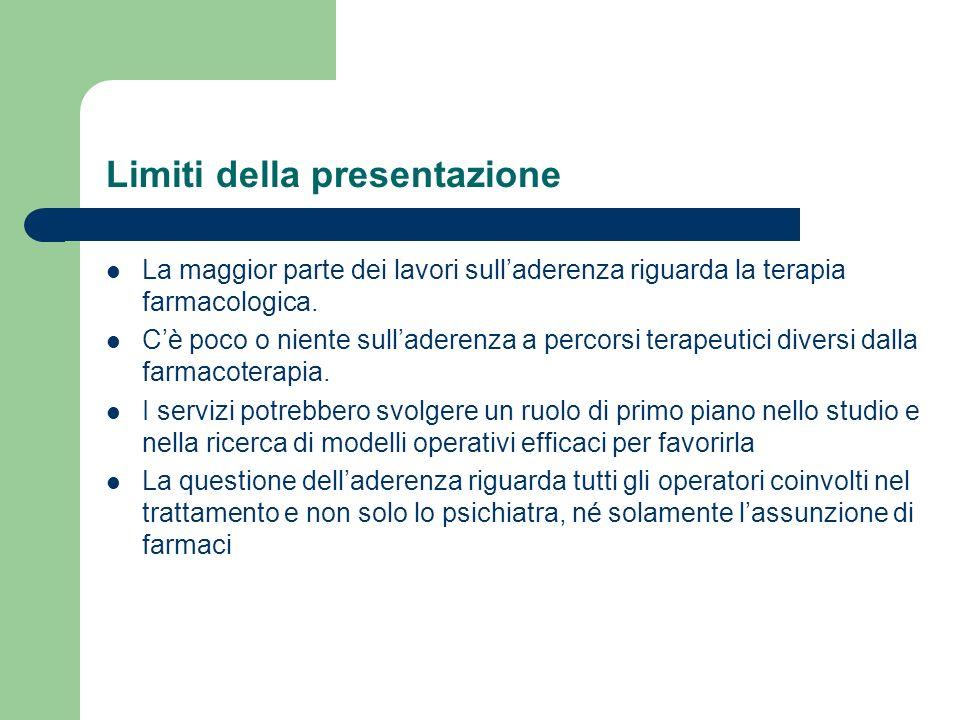 Limiti della presentazione
