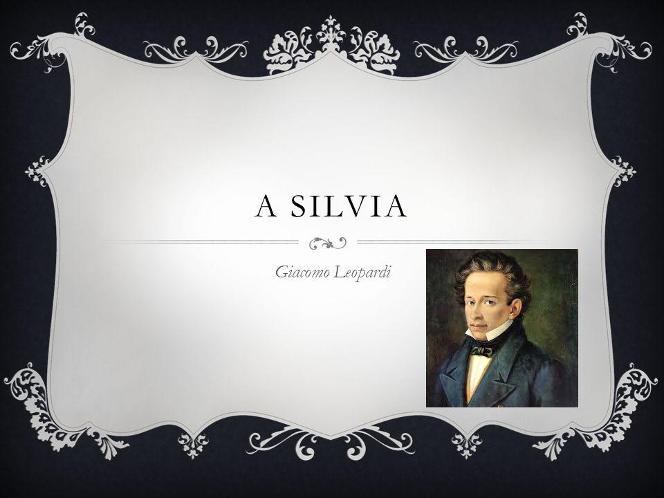 A SILVIA Giacomo Leopardi