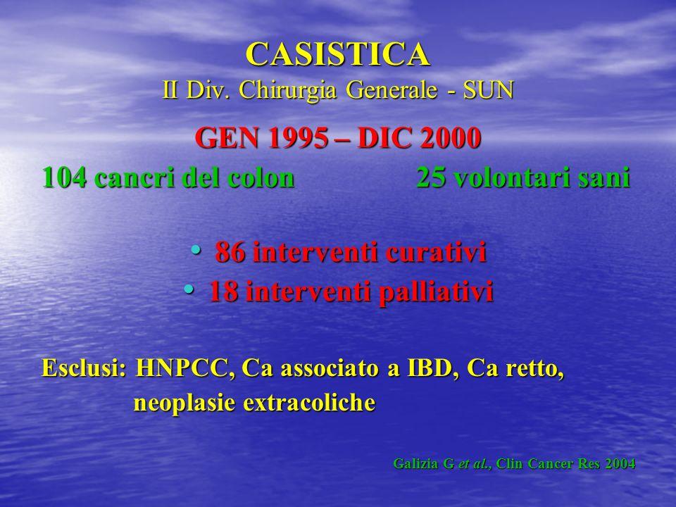 CASISTICA II Div. Chirurgia Generale - SUN