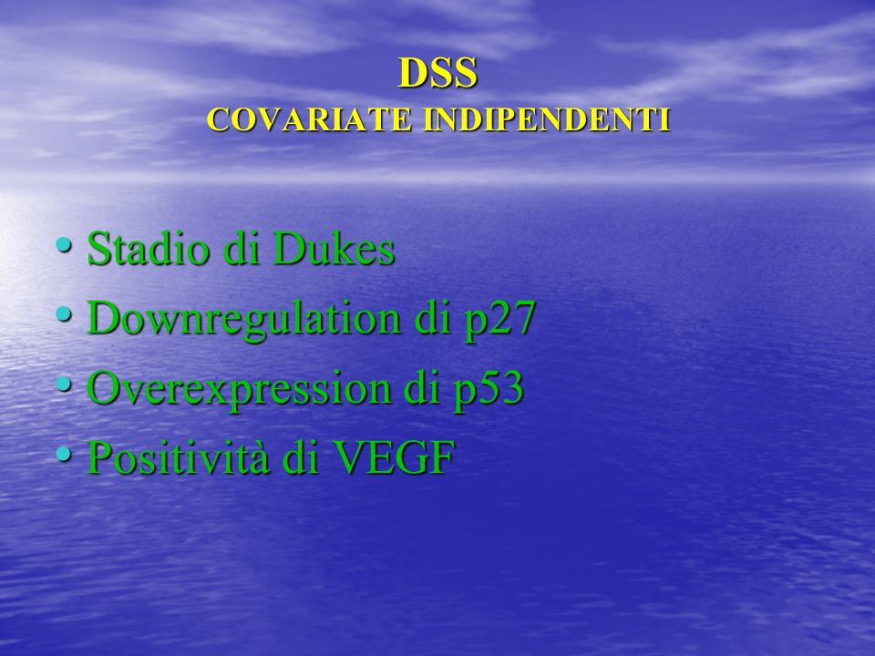 DSS COVARIATE INDIPENDENTI