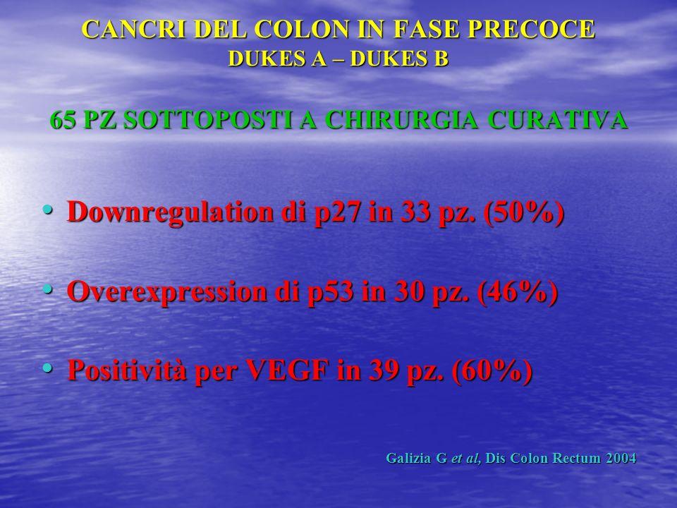 Downregulation di p27 in 33 pz. (50%)