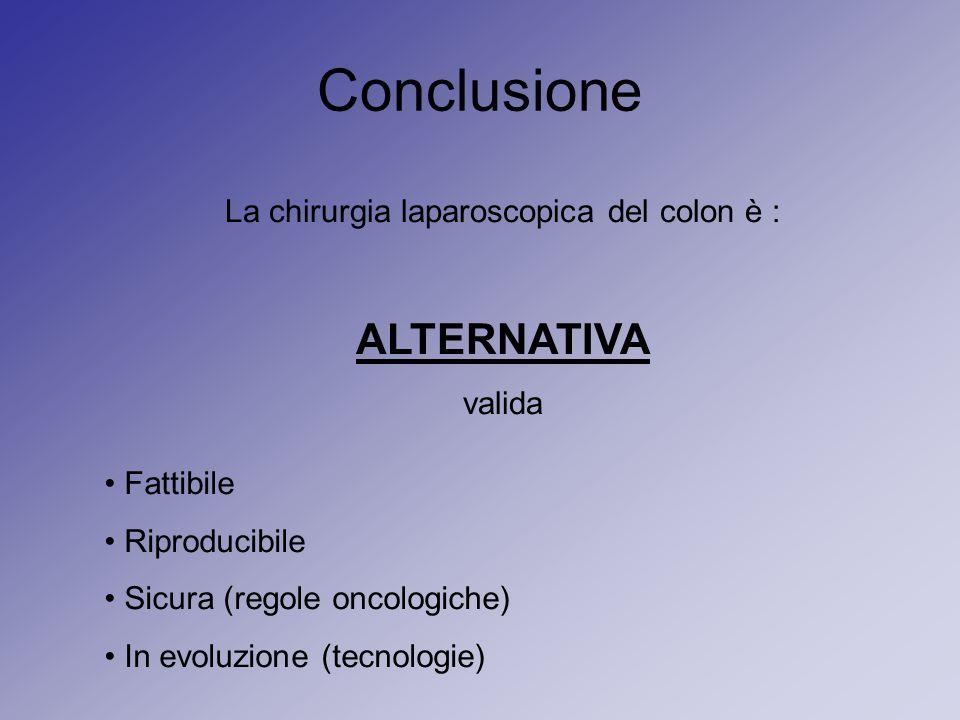 La chirurgia laparoscopica del colon è :