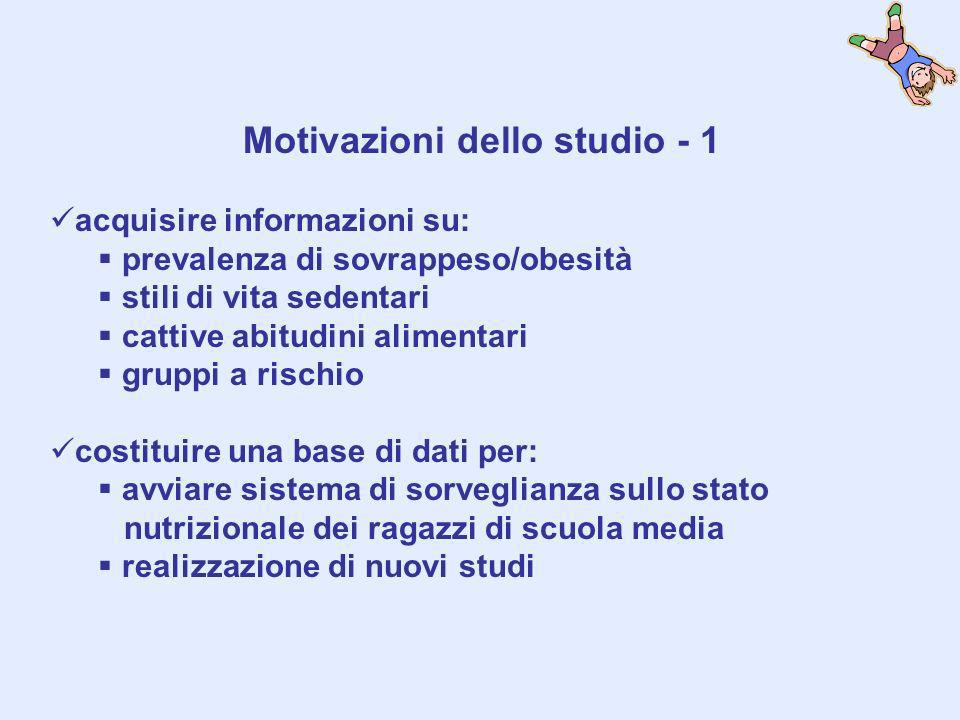 Motivazioni dello studio - 1