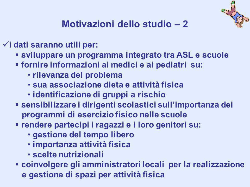 Motivazioni dello studio – 2