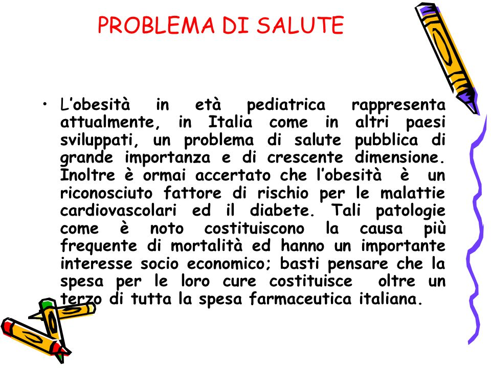 PROBLEMA DI SALUTE