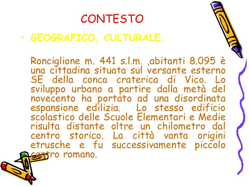 CONTESTO GEOGRAFICO, CULTURALE.