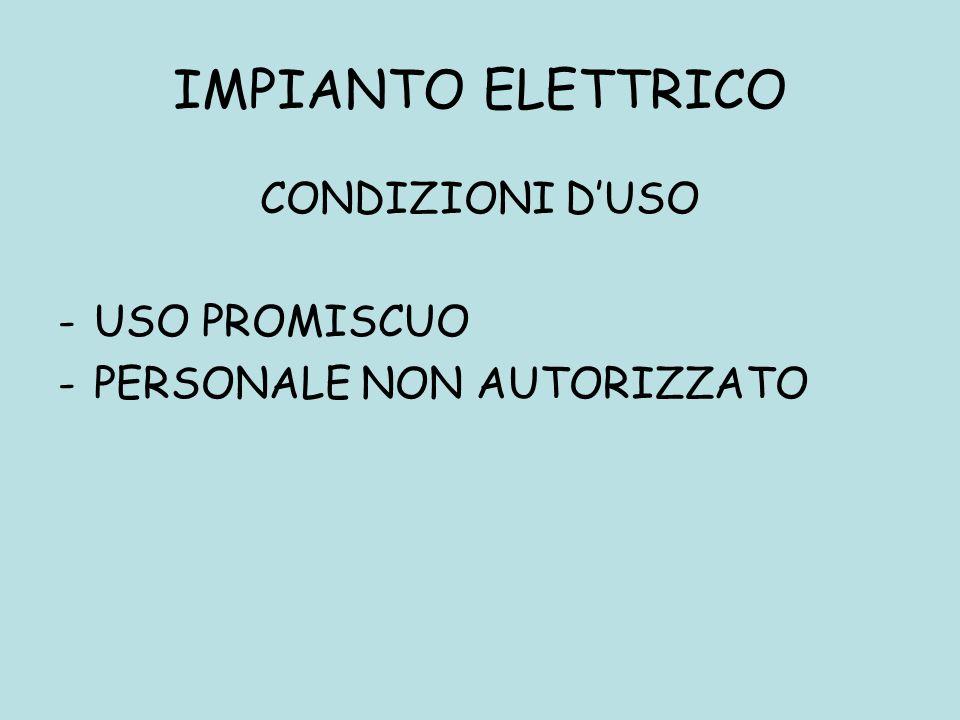 IMPIANTO ELETTRICO CONDIZIONI D'USO USO PROMISCUO