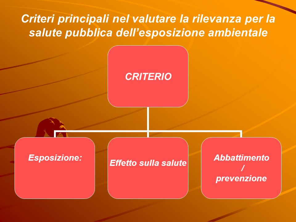 Criteri principali nel valutare la rilevanza per la salute pubblica dell'esposizione ambientale