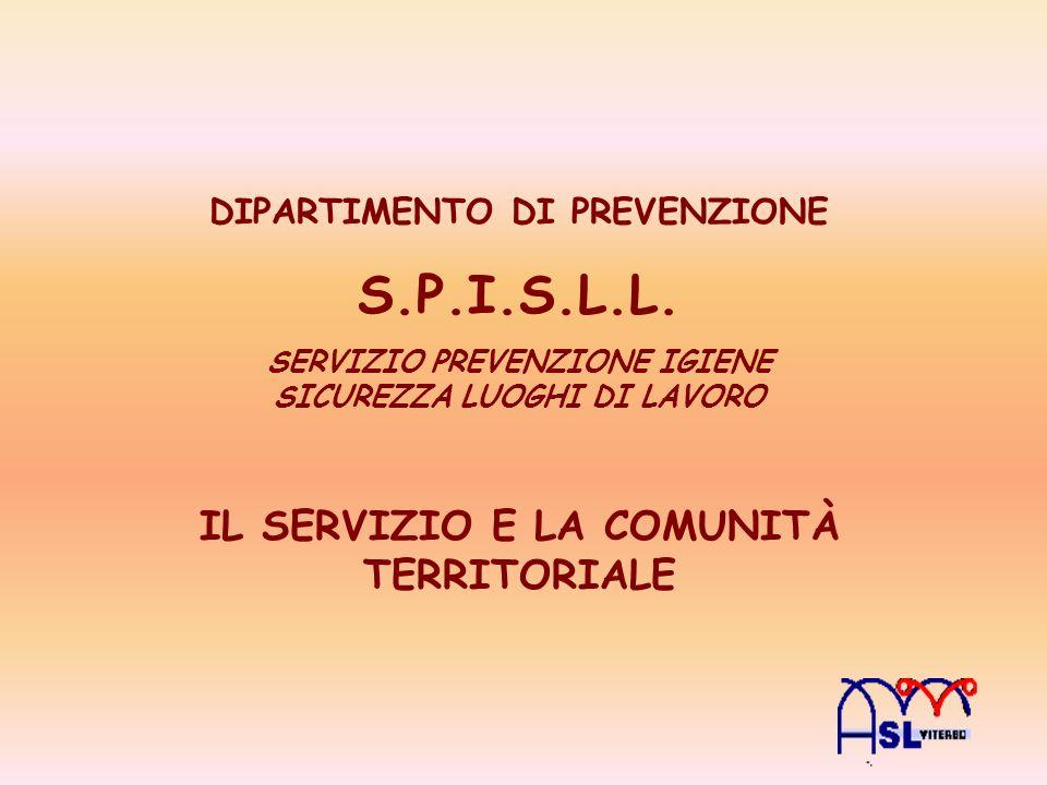 S.P.I.S.L.L. IL SERVIZIO E LA COMUNITÀ TERRITORIALE