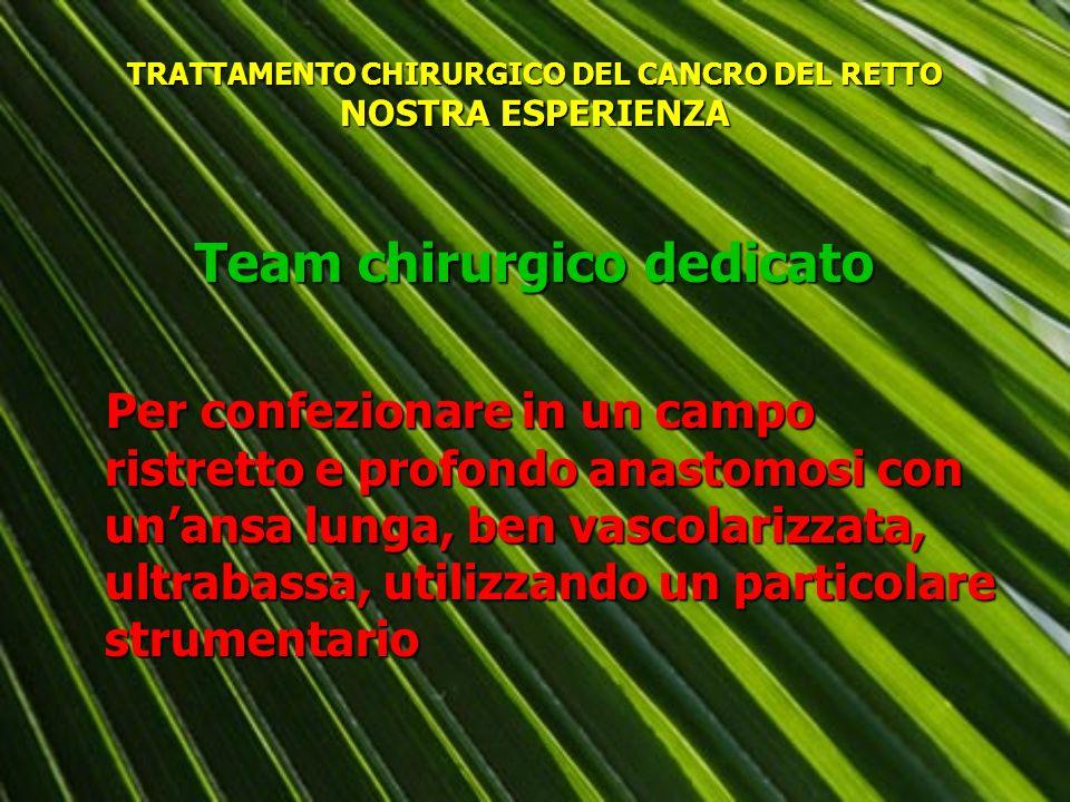 TRATTAMENTO CHIRURGICO DEL CANCRO DEL RETTO NOSTRA ESPERIENZA