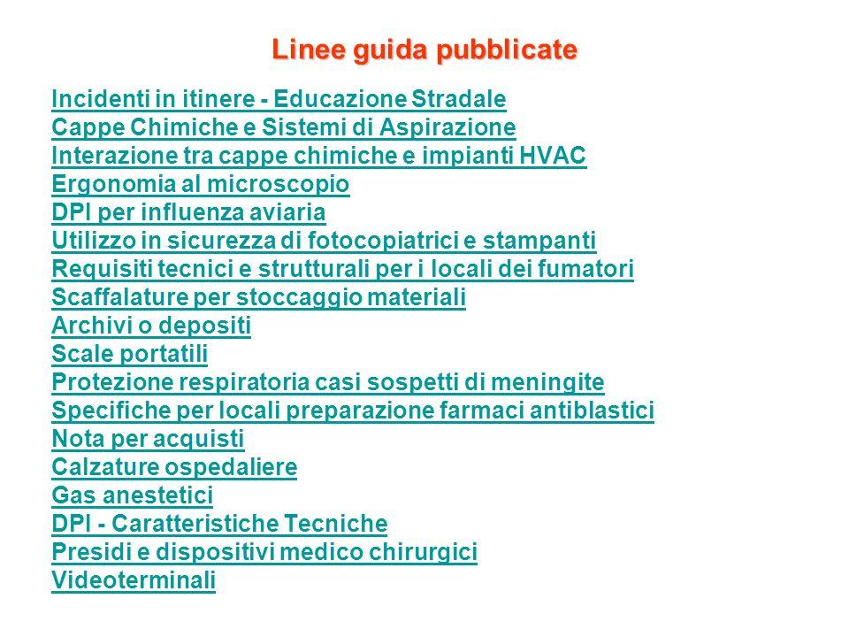 Linee guida pubblicate
