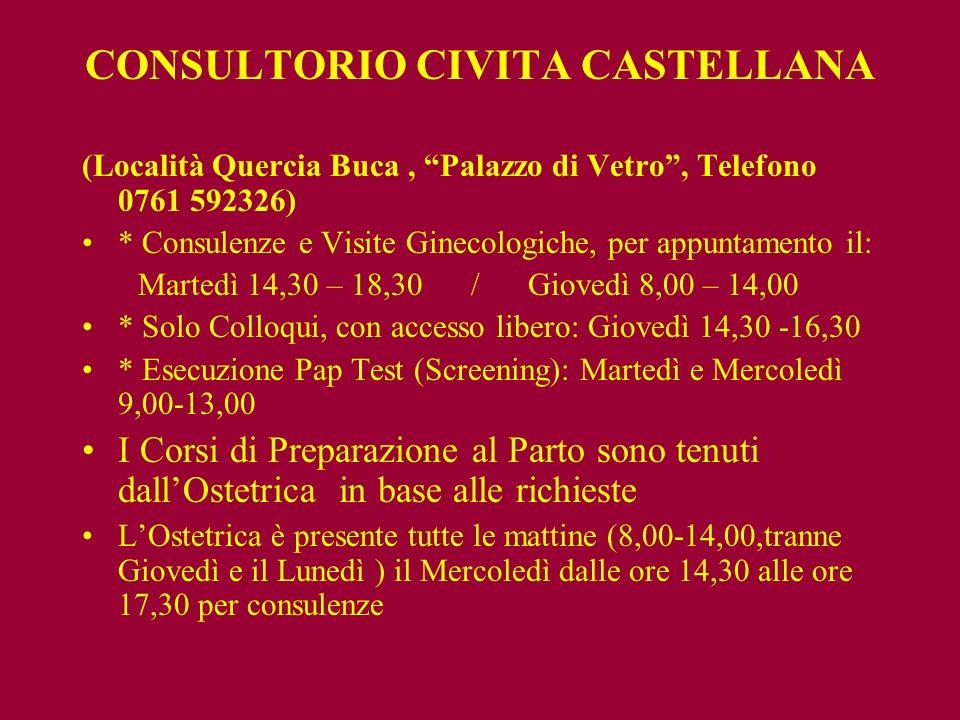 CONSULTORIO CIVITA CASTELLANA