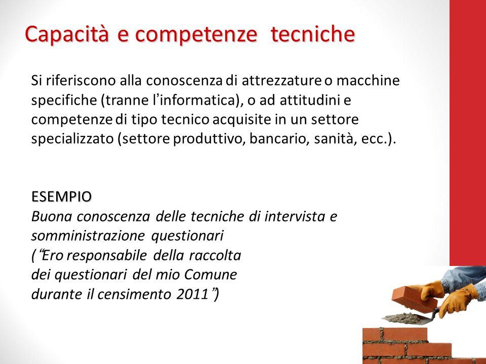 Capacità e competenze tecniche
