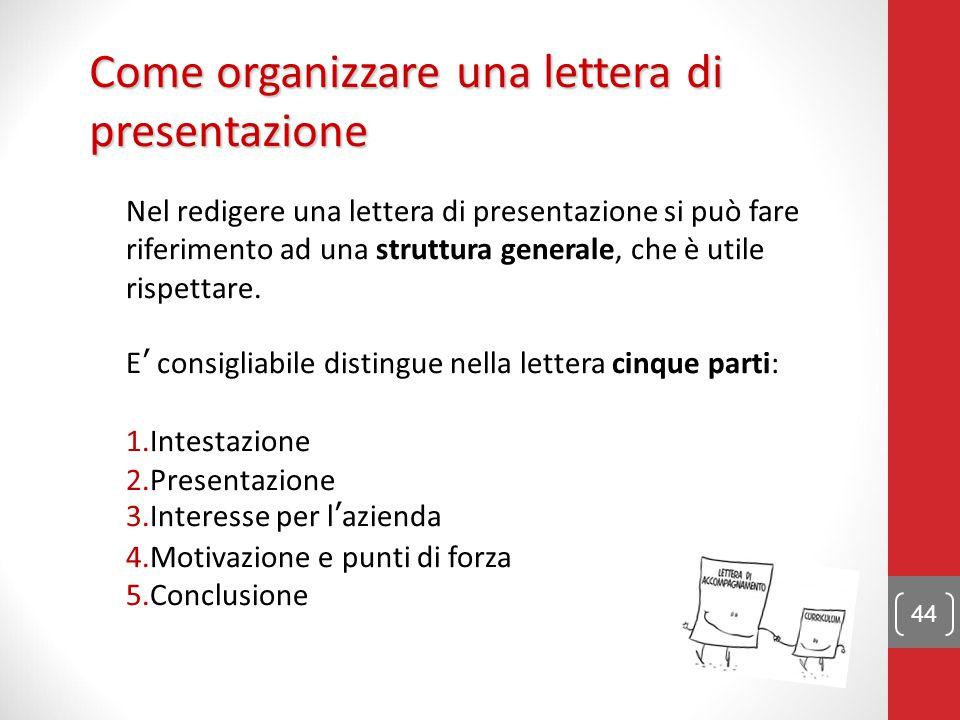 Come organizzare una lettera di presentazione