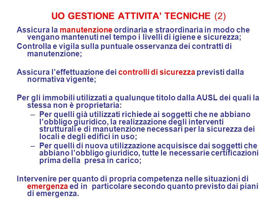UO GESTIONE ATTIVITA' TECNICHE (2)