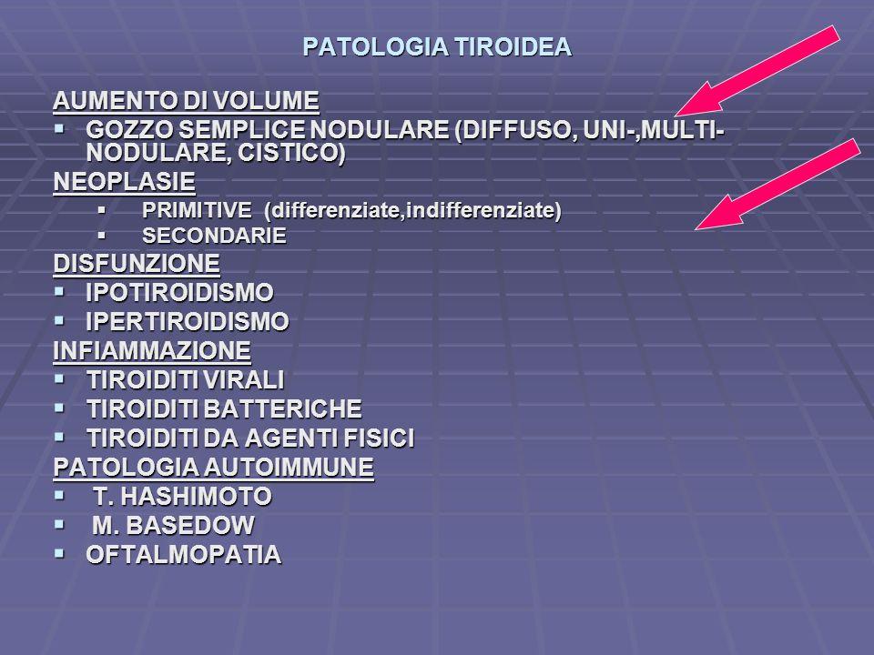 GOZZO SEMPLICE NODULARE (DIFFUSO, UNI-,MULTI-NODULARE, CISTICO)