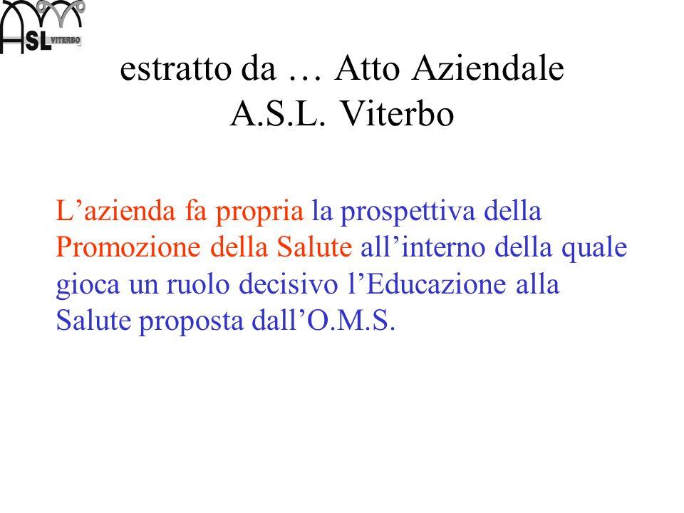 estratto da … Atto Aziendale A.S.L. Viterbo