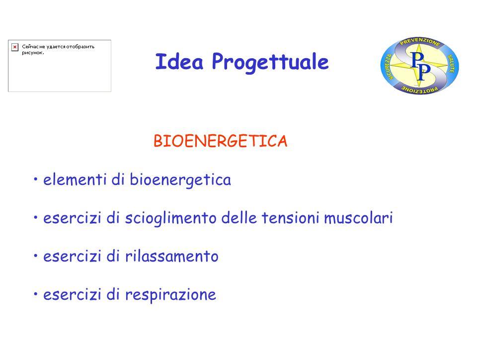 Idea Progettuale BIOENERGETICA elementi di bioenergetica