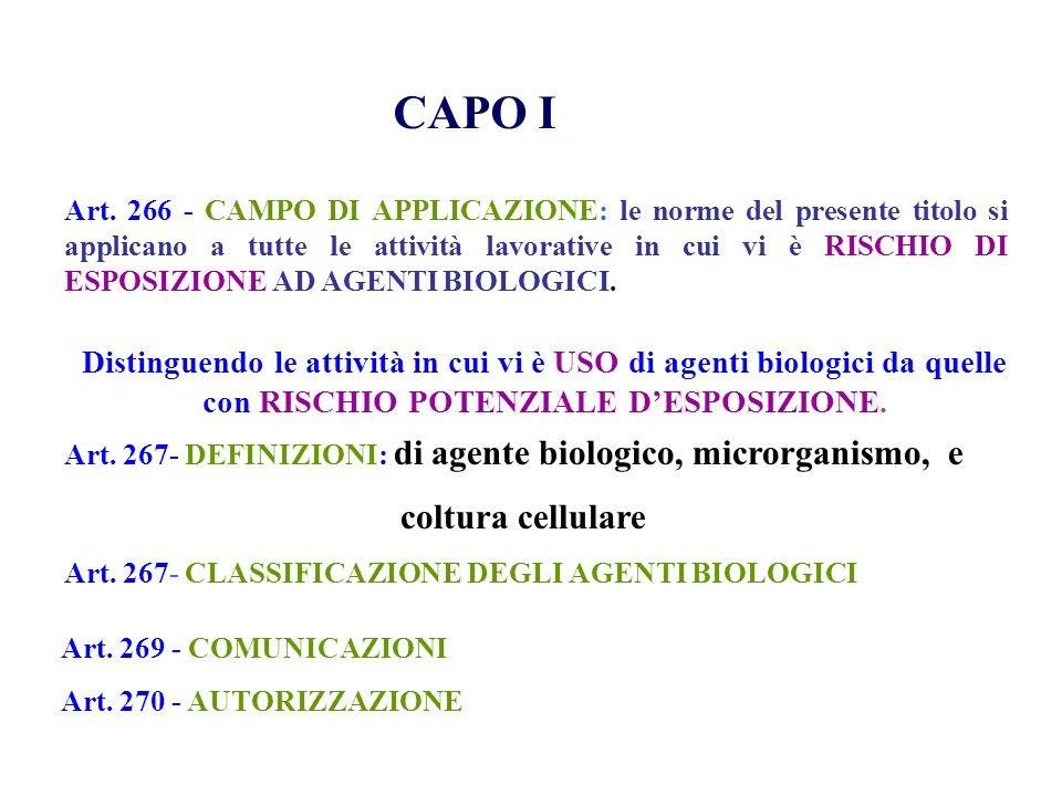 CAPO I coltura cellulare