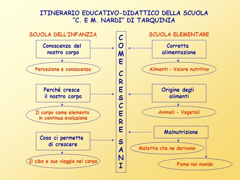 ITINERARIO EDUCATIVO-DIDATTICO DELLA SCUOLA C. E M