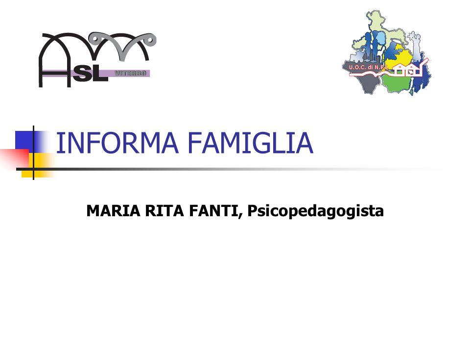 MARIA RITA FANTI, Psicopedagogista