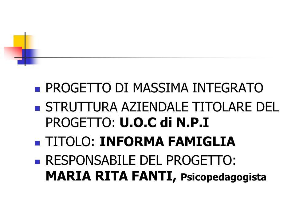 PROGETTO DI MASSIMA INTEGRATO