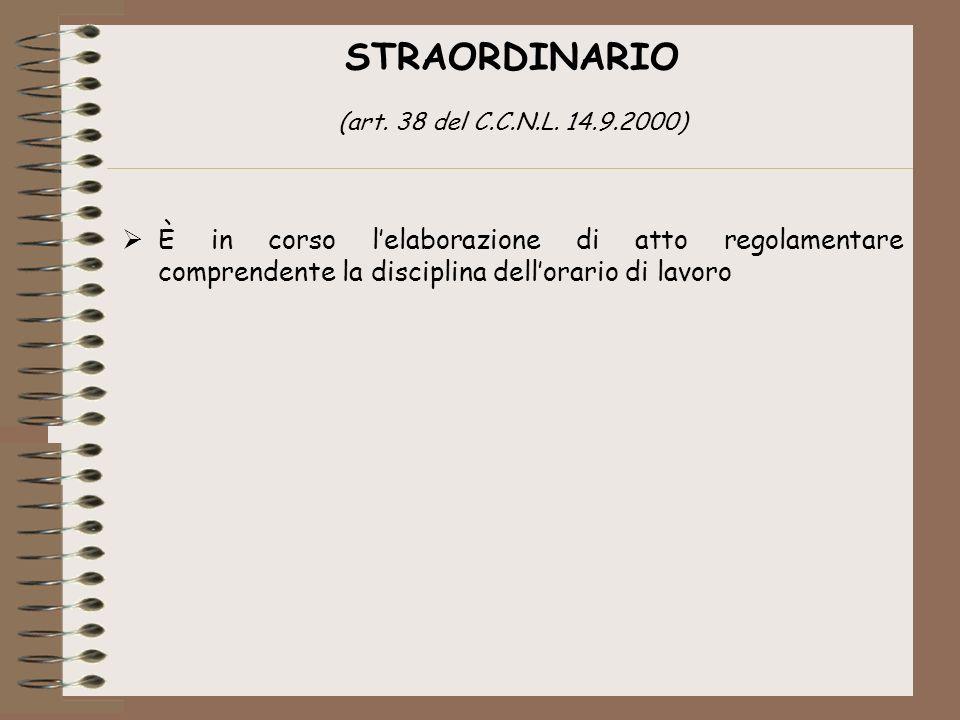 STRAORDINARIO (art. 38 del C.C.N.L.