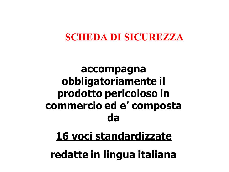 redatte in lingua italiana