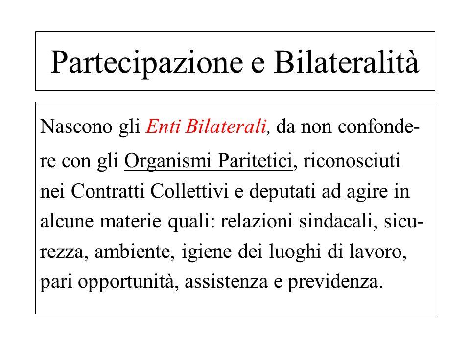 Partecipazione e Bilateralità