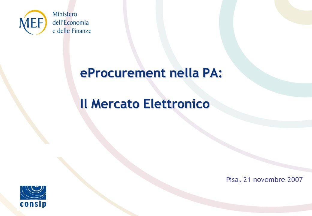 eProcurement nella PA: Il Mercato Elettronico