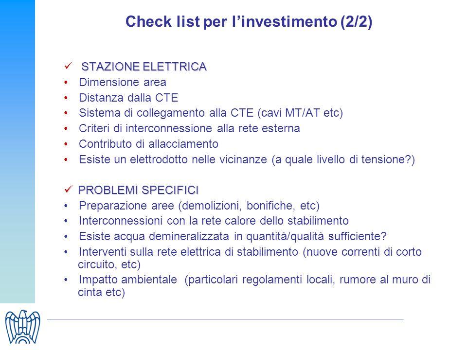 Check list per l'investimento (2/2)