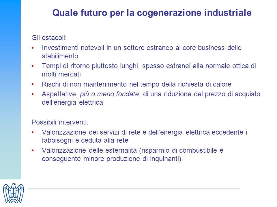 Quale futuro per la cogenerazione industriale