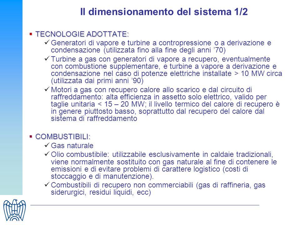 Il dimensionamento del sistema 1/2