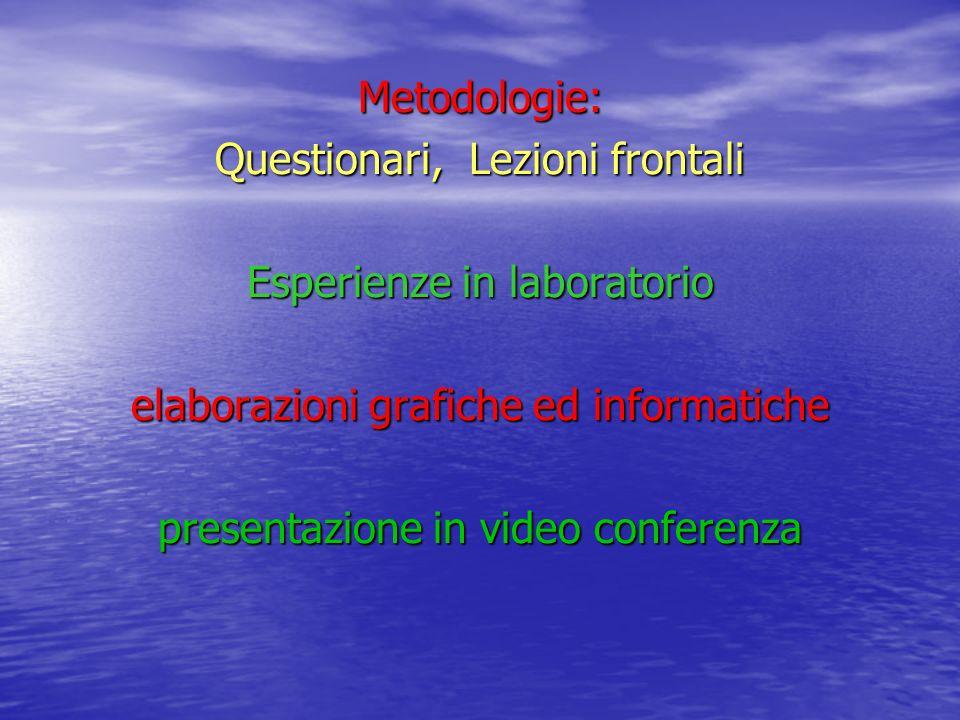 Questionari, Lezioni frontali Esperienze in laboratorio