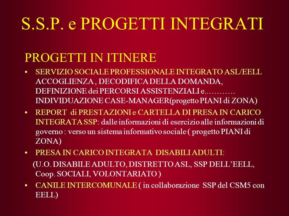 S.S.P. e PROGETTI INTEGRATI