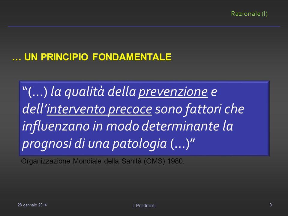 (…) la qualità della prevenzione e