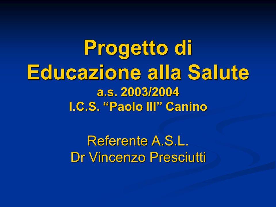 Referente A.S.L. Dr Vincenzo Presciutti