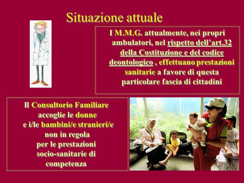 Il Consultorio Familiare e i/le bambini/e stranieri/e