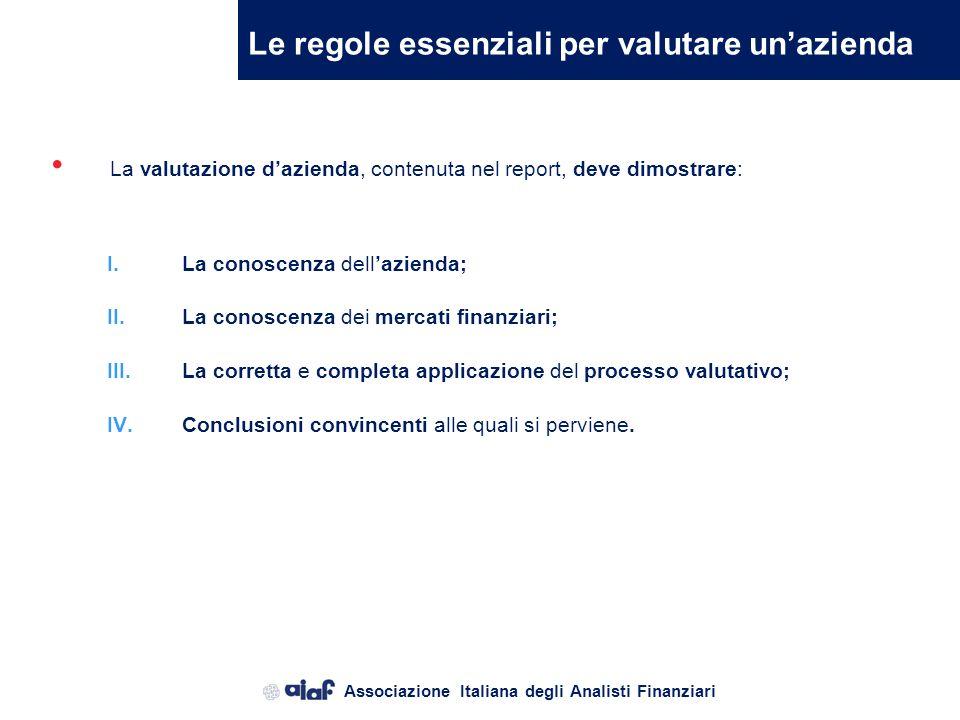 Le regole essenziali per valutare un'azienda