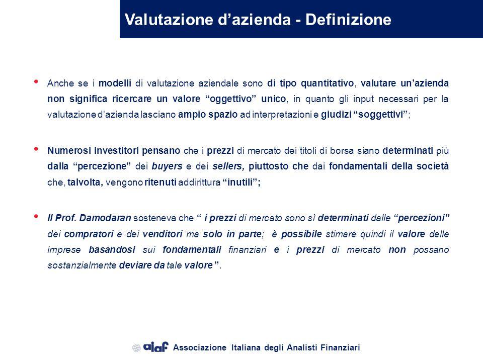 Valutazione d'azienda - Definizione