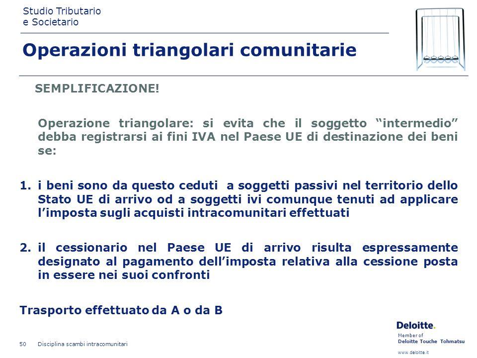 Operazioni triangolari comunitarie