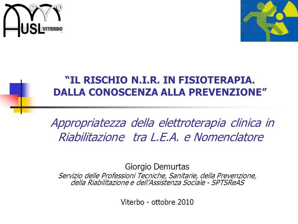 IL RISCHIO N. I. R. IN FISIOTERAPIA