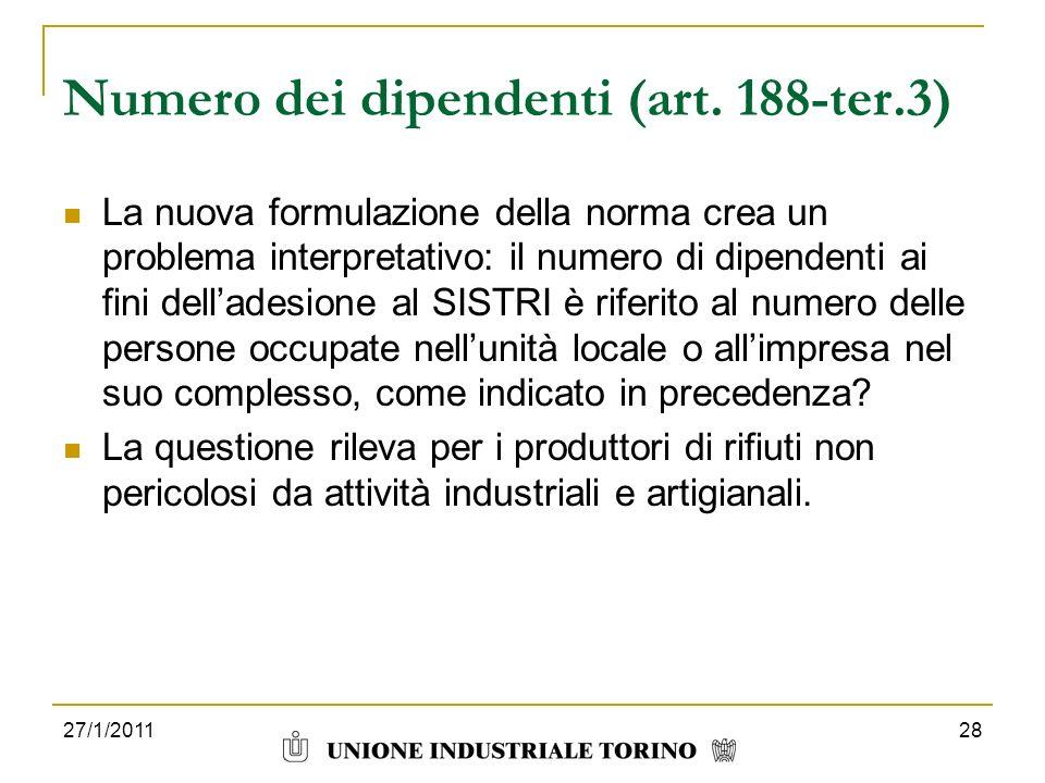 Numero dei dipendenti (art. 188-ter.3)