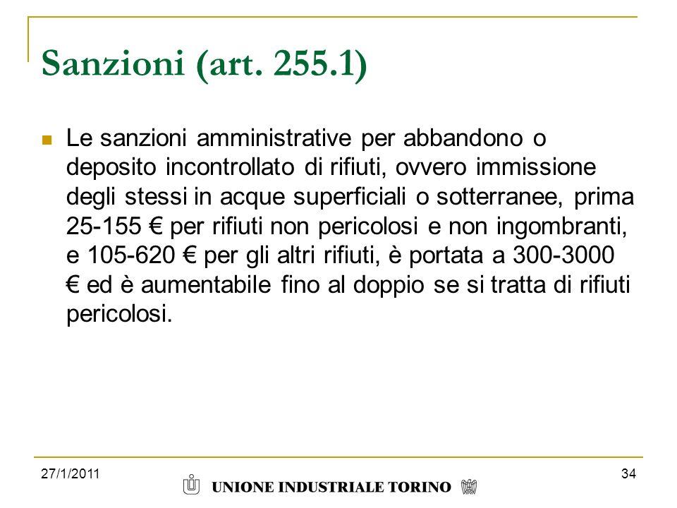 Sanzioni (art. 255.1)