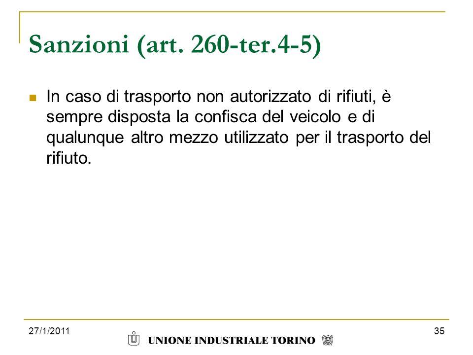 Sanzioni (art. 260-ter.4-5)