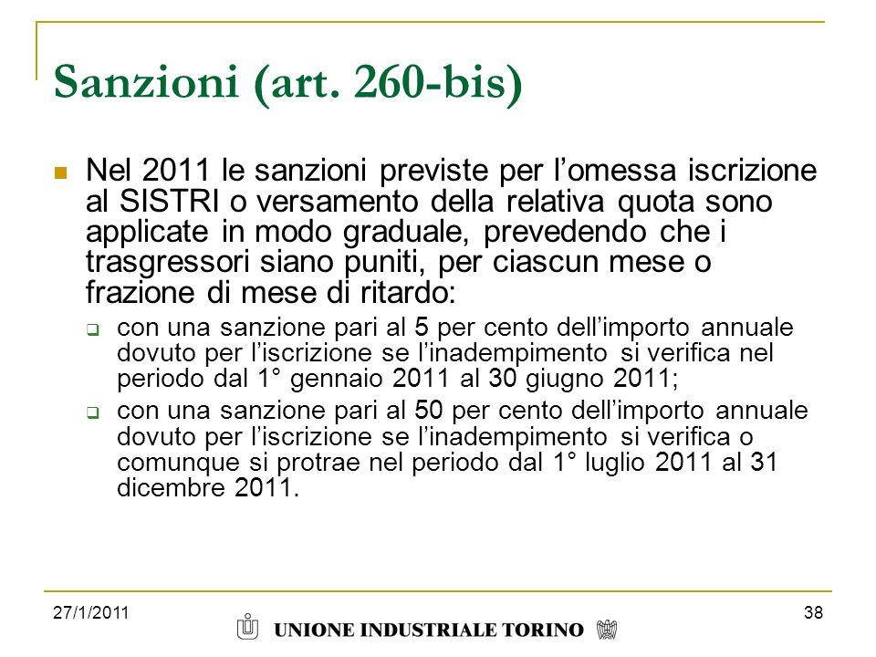 Sanzioni (art. 260-bis)
