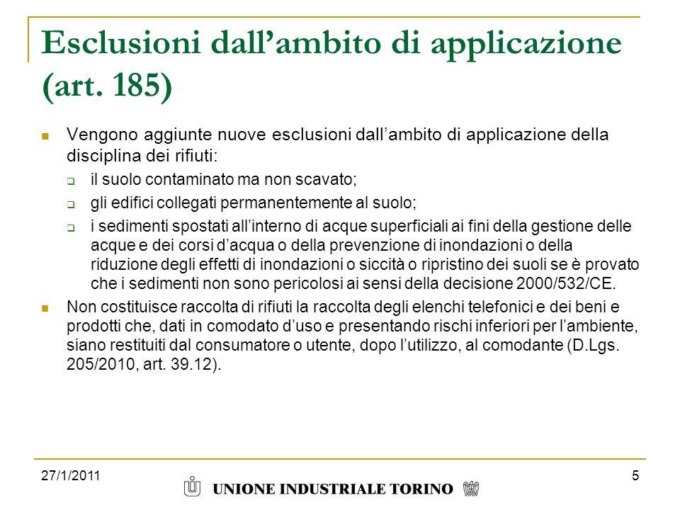 Esclusioni dall'ambito di applicazione (art. 185)