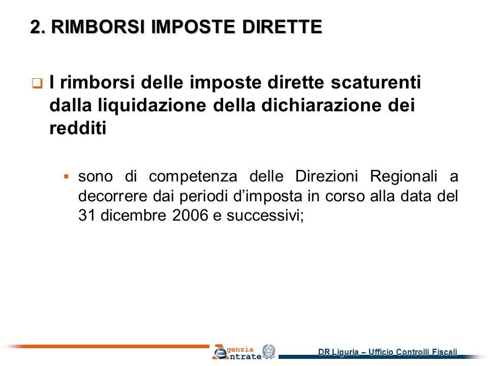 2. RIMBORSI IMPOSTE DIRETTE